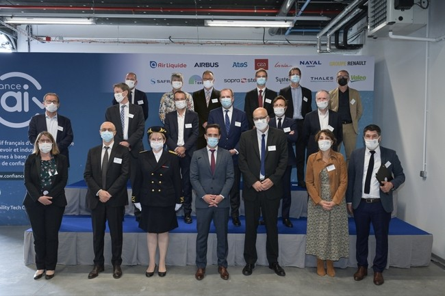 Tous les acteurs du programme Confiance.ai étaient présents lors de l'événement de lancement, dans le centre de R&D de Valeo. (Crédit : Gil Lefauconnier/Confiance.ai)