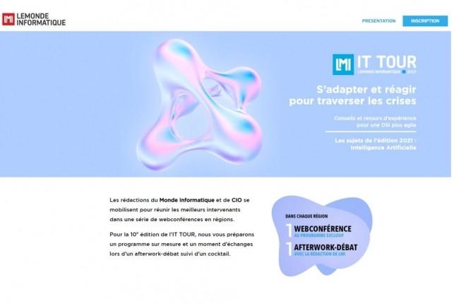La r�daction du Monde Informatique vous donne rendez-vous � partir du 29 septembre 2021 pour l'IT Tour 2021. (cr�dit : LMI)