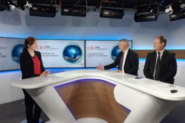 De gauche � droite : Aur�lie Chand�ze (r�dactrice-en-chef adjointe de CIO), Bertrand Lemaire (r�dacteur-en-chef de CIO) et Jacques Cheminat (r�dacteur-en-chef du Monde Informatique). cr�dit : CIO
