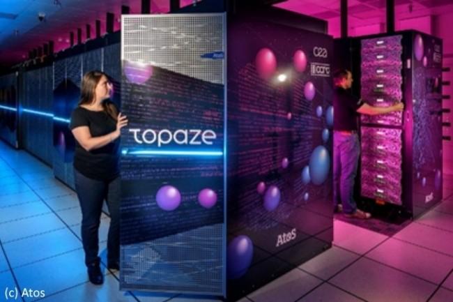 Topaze est hébergé sur le site du CEA de Bruyères-le-Châtel, dans le sud de la région parisienne.
