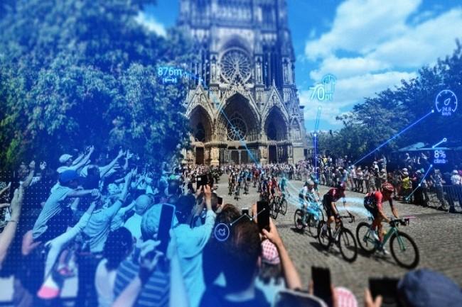 NTT, au travers de Dimension Data depuis 2015, apporte de nombreuses innovations technologiques au Tour de France. (cr�dit : NTT)