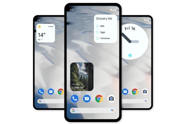 Disponible sur les téléphones Pixel, la version bêta 3 d'Android 12 oriente ses fonctionnalités sur la vie privée de l'utilisateur. (Crédit : Android)