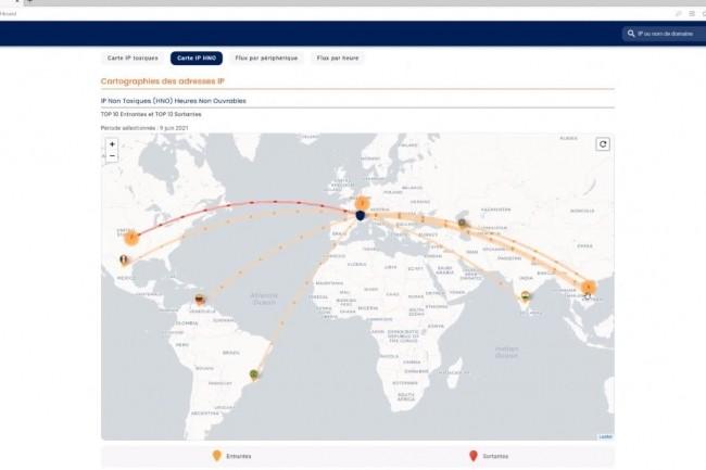 Le module Control de Serenicity permet de faire remonter une cartographie de la cybermenace. (cr�dit : Serenicity)