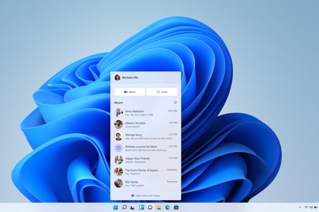 Teams est accessible en mode fen�tre en cliquant sur � Ouvrir Microsoft Teams � dans le menu d�roulant de Chat ou en le lan�ant directement depuis le menu D�marrer ou Rechercher. (Cr�dit : Microsoft Teams)