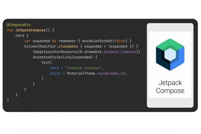 Pr�sent�e par Google comme une bo�te � outils � moderne � pour cr�er des UI pour apps Android, Jetpack Compose dispose d'API Kotlin qualifi�es d'intuitives. (Cr�dit : Google)