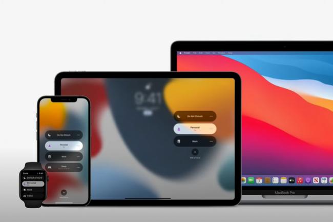 Dans sa derni�re mise � jour, Apple a souhait� diff�rencier l'outil personnel de l'outil professionnel. (Cr�dit : Apple, WWDC 2021)