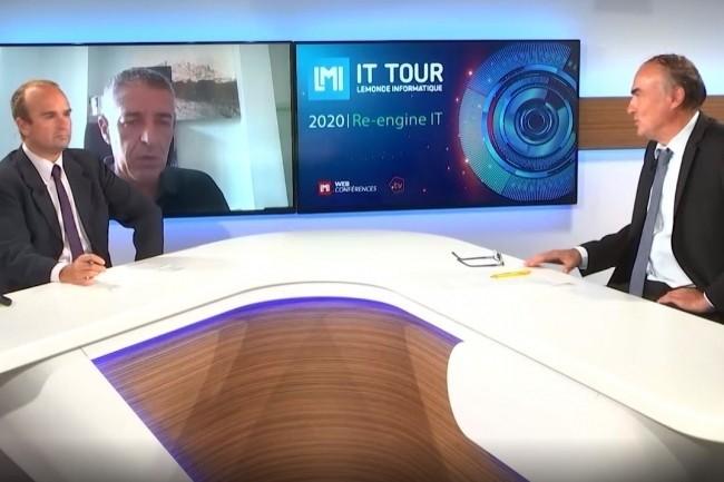 Le DSI d'Aix en Provence J�r�me Richard a �voqu� en duplex le projet smart city de la ville lors de l'IT Tour web TV 2020. (cr�dit : LMI)