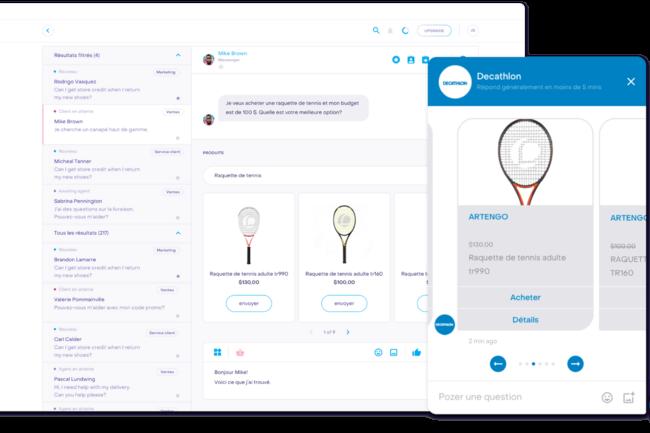 La start-up Heyday poss�de un fichier client international, issus de domaines vari�s � l'exemple de la marque Decathlon. (Cr�dit : Heyday)