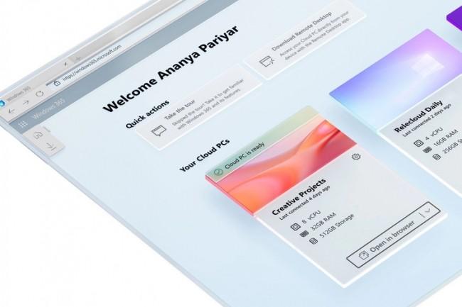 Une version grand public de Windows 365 est envisag�e, seulement quelques jours apr�s la publication de sa gamme de prix � destination des entreprises. (Cr�dit : )
