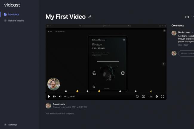 Les utilisateurs souhaitant cr�er un Vidcast peuvent enregistrer leur session directement dans la plateforme Webex. (Cr�dit Cisco)