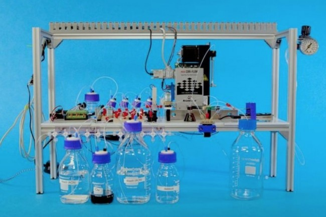 Les informations sont stock�es dans des mol�cules d'ADN de synth�se cr��es en laboratoire. (Cr�dit : Microsoft)