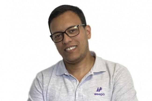 Hicham El Maniari, co-fondateur de Weepo, a con�u une plateforme collaborative et accessible � tous les acteurs du portage salarial. (Cr�dit photo: Weepo)