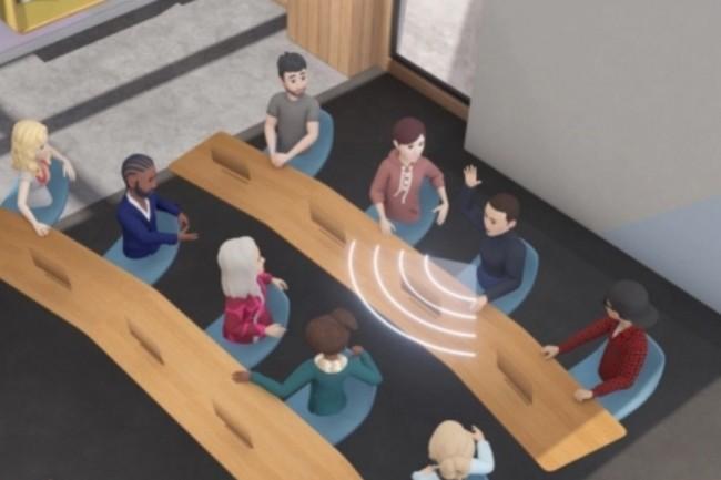 Horizon Workrooms de Facebook int�gre jusqu'� 15 utilisateurs en r�alit� virtuelle et 50 en vid�o. (Image Facebook)