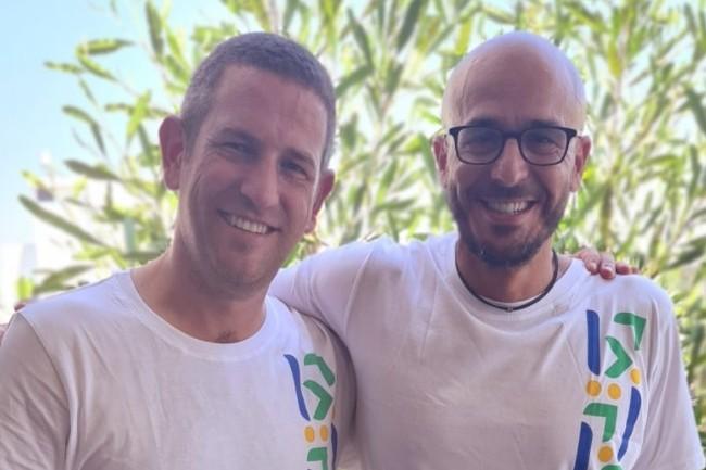 Amit Kanfer, co-fondateur et CEO de build.security (� gauche) aux c�t�s de Shay Banon, CEO d'Elastic. (cr�dit : build.security)