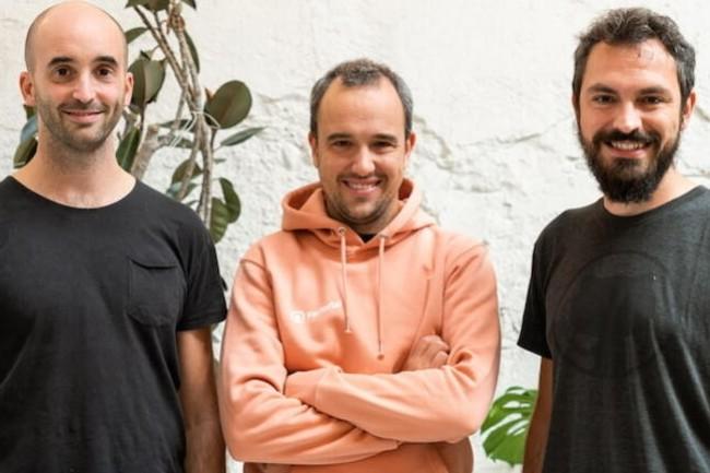 Jordi Romero, CEO, Pau Ramon CTO et Bernat Farrero, CRO ont co-fond� Factorial en 2016. (Cr�dit : Factorial)