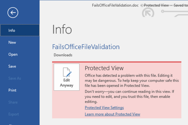 L'utilisation par d�faut de Protected View dans IE peut �viter d'�tre touch� par la faille (Cr�dit Photo: Microsoft)