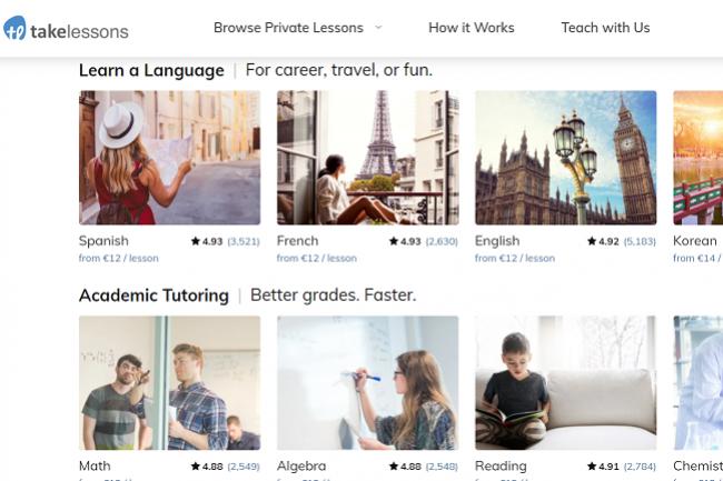TakeLessons propose des cours et des formations dans des domaines variant, allant de l'apprentissage d'une langue � des cours de musique ou d'�checs. (Cr�dit : TakeLessons)