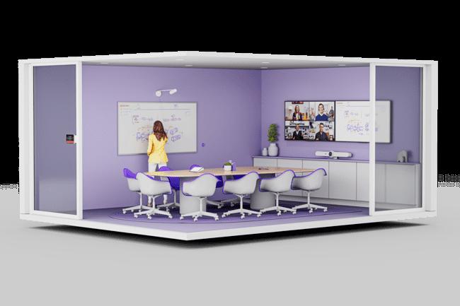 Tap Scheduler, pr�sent � l'entr�e d'une salle, permet aux collaborateurs de signaler la disponibilit� des salles � distance et les r�server en temps r�el. (Cr�dit : Logitech)
