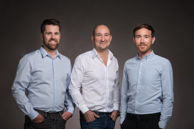 Sylvain Boily, Nicolas Marchal et Benoit Aubas (de gauche � droite) ont co-fond� Wazo en 2017. (Cr�dit : Hermance Triay)