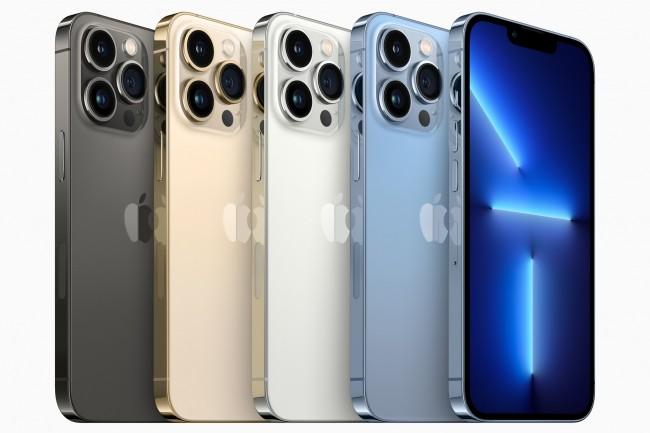 L'iPhone 13 Pro est propos� dans quatre couleurs. (Cr�dit Apple)