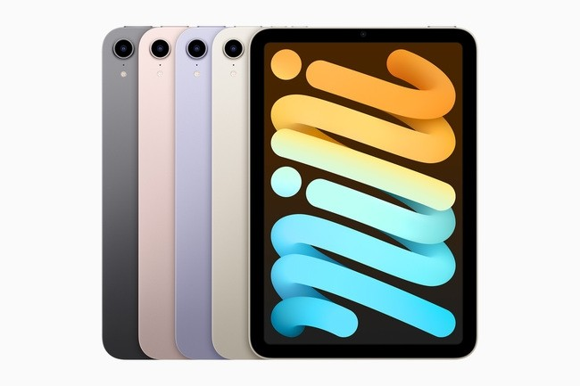 Le dernier iPad mini est dot� d'un design tout �cran, de la puce A15 Bionic, de Touch ID, de Center Stage, etc. (Cr�dit : Apple)
