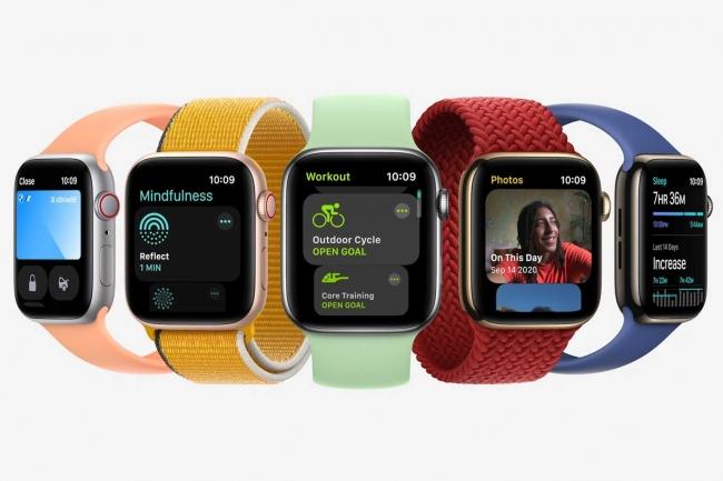 Un �cran�sans bord pour l'Apple Watch 7�