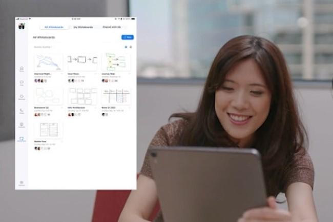 Zoom passe � l'offensive sur le collaboratif en pr�sentant plusieurs fonctionnalit�s comme le tableau blanc