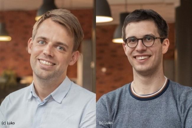 De gauche � droite : Rapha�l Vullierme (DG cofondateur de Luko) et Benoit Bourdel (directeur technique et cofondateur de Luko).