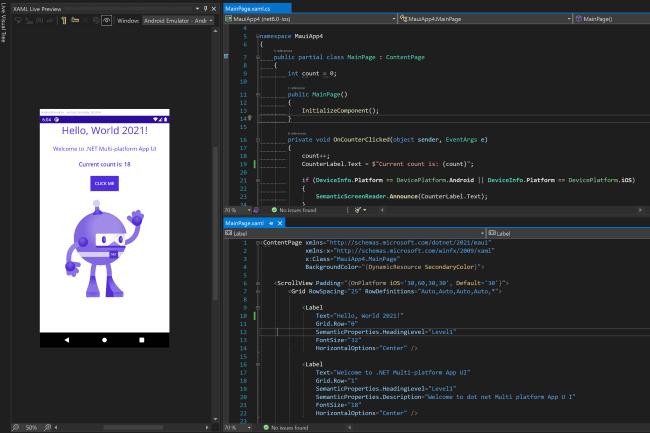 La derni�re version beta de Visual Studio 2022 apporte des �volutions notamment sur la fonction Hot Reload. (Cr�dit Photo : Microsoft)