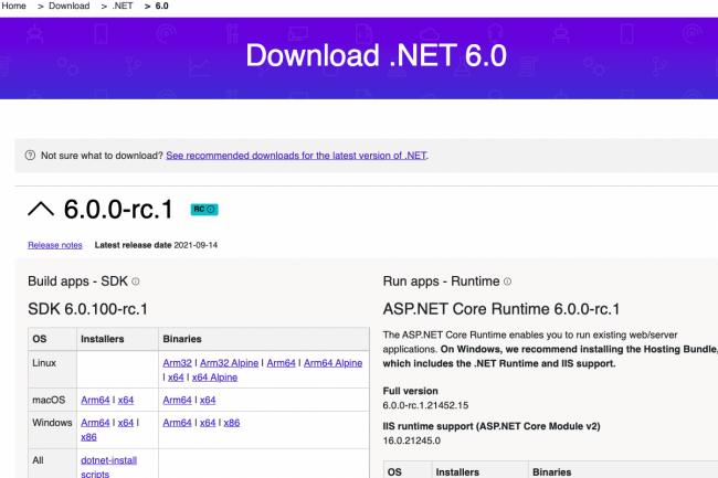 La version finale de production de .NET 6 est attendue en novembre. (Cr�dit Microsoft)