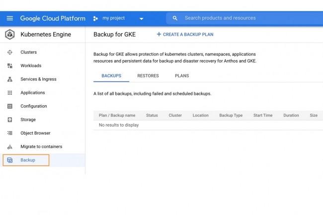 Avec Backup for GKE, le cloud public de Google permet d�automatiser la sauvegarde et restauration des clusters Kubernetes, des namespaces et des donn�es persistantes pour Anthos et GKE. (Cr�dit : Google Cloud)