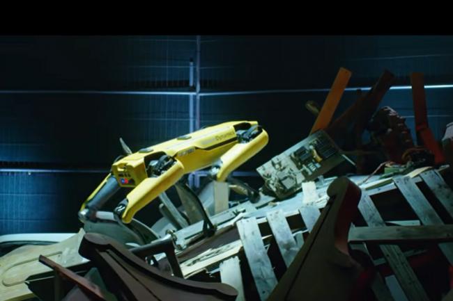 Spot, le chien-robot de Boston Dynamics, peut parcourir des milliers de kilom�tres dans des installations industrielles. (Cr�dit : Boston Dynamics)