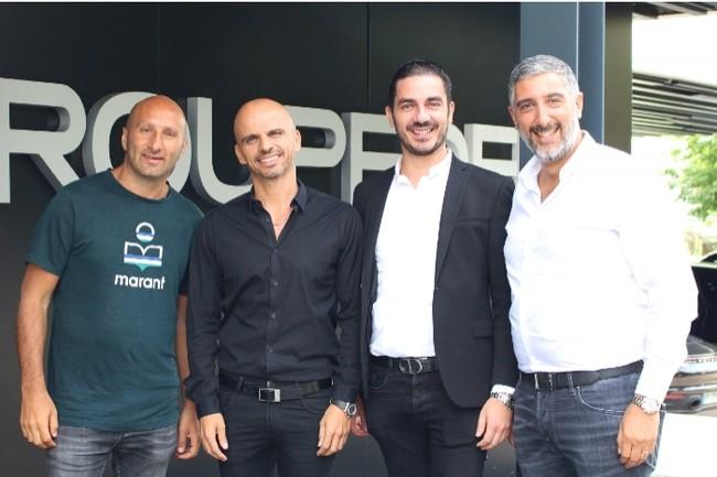 De gauche � droite : Dan Djorno, Groupe DFM ; Franck Makaci, Groupe DFM ; Mika�l Trabelsi, HM Partners ; et Mika�l Guenni, Groupe DFM