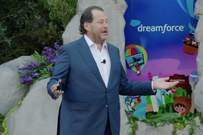 Un millier de personnes pourront �tre physiquement accueillies lors de la conf�rence Dreamforce 2021, ouverte hier par Marc Benioff, CEO de Salesforce. Et plus de 100 000 la suivront en ligne. (Cr�dit : Salesforce)