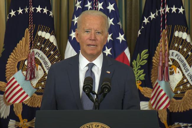 Joe Biden hausse le ton et a pris des mesures pour bloquer l'acc�s � la plateforme d'�change de cryptomonnaie Suex, soup�onn�e de travailler avec des groupes de ransomware. (Cr�dit Photo: Maison Blanche )