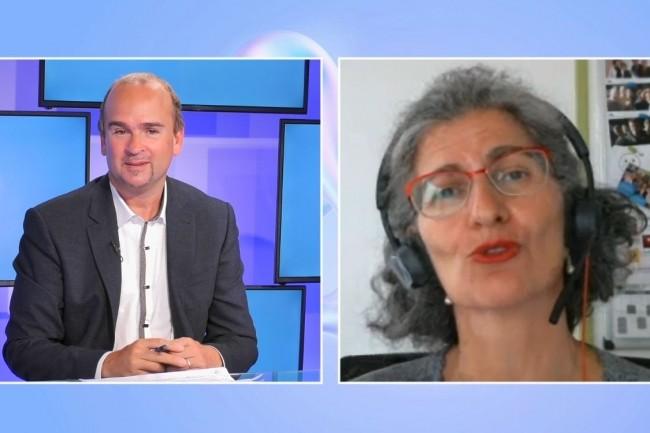 Nina Reignier Tayar, Directrice du num�rique de l'Universit� Grenoble Alpes r�pond aux questions de la r�daction du Monde Informatique sur la web TV 2021 IT Tour du 29 septembre 2021. (cr�dit : LMI)
