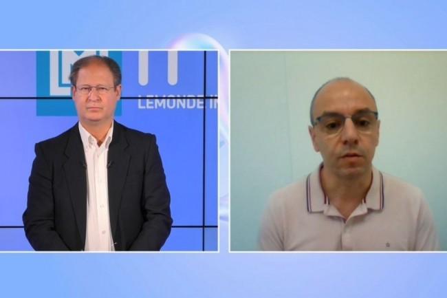 Renaud Causier, DSI de Oogarden (� droite) intervient sur la matin�e IT Tour web TV 2021 Auvergne Rh�ne-Alpes sur le sujet du SD-Wan. (cr�dit : LMI)