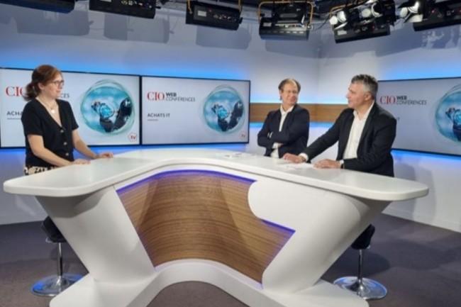 De gauche � droite : Aur�lie Chand�ze (r�dactrice-en-chef adjointe de CIO), Bertrand Lemaire (r�dacteur-en-chef de CIO) et Jacques Cheminat (r�dacteur-en-chef du Monde Informatique).