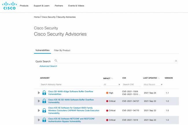 32 vuln�rabilit�s sont corrig�es dans le dernier avis de s�curit� de Cisco. (Cr�dit Cisco)