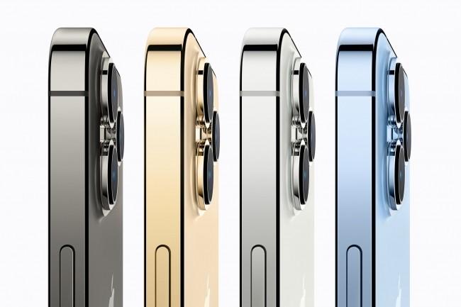 L'iPhone 13 Pro, dot� d'un verre frontal Ceramic Shield, est disponible � l'achat en quatre couleurs. (Cr�dit : Apple)