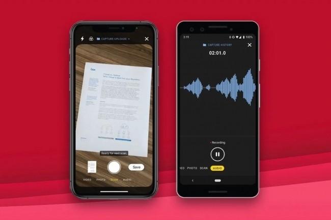 Box pr�voit de lancer une application mobile remani�e, avec un mode de capture actualis� pour les appareils iOS et Android. (Cr�dit : Box)