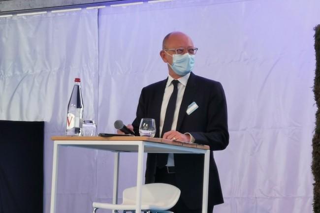 Le pr�sident d'Interxion France, Fabrice Coquio, � Marseille en mai dernier pour l'inauguration de MR3 et le lancement de MR4. (Cr�dit S.L.)