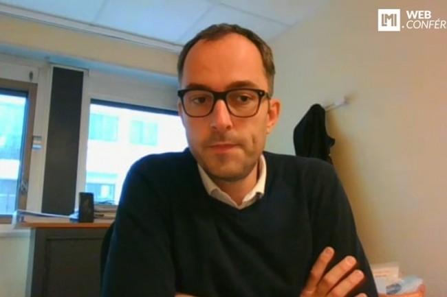 Emmanuel Tretout, DSI du service de sant� au travail de la r�gion nantaise intervient sur la matin�e IT Tour 2021 Pays de la Loire. (cr�dit : LMI)