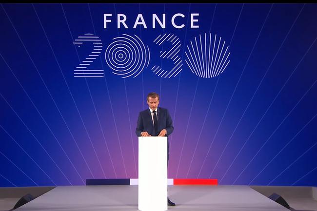 Emmanuel Macron pr�sentait ce matin � l'Elys�e le plan France 2030 avec � la cl� un investissement global de 30 milliards d'euros. (Cr�dit : DR)