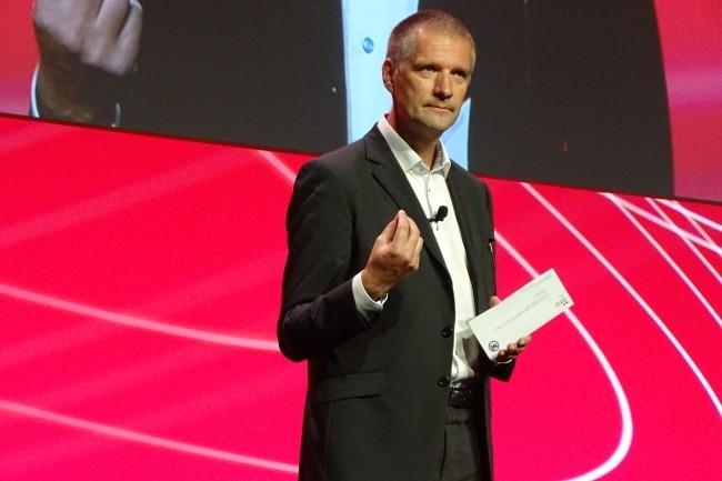 Guillaume Poupard, directeur g�n�ral de l'Anssi est revenu sur le label SecNumCloud et les r�centes annonces de partenariats. (Cr�dit Photo: JC)