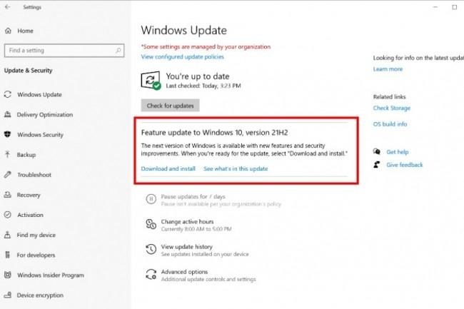 Salves de mises � jour pour Windows 10 et 11