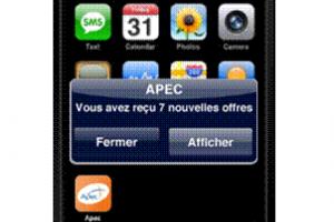 Les offres d'emploi de l'Apec sur iPhone