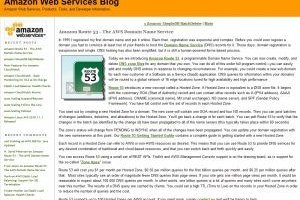 Amazon Web Services lance Route 53 DNS