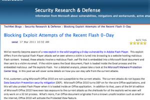 Attaques contre Flash  : Microsoft recommande EMET pour prot�ger les utilisateurs d'Office