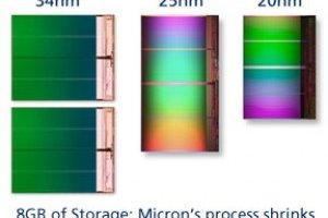 Intel et Micron annonce des mémoires Flash Nand en 20 nm